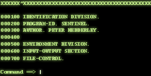 Header of a COBOL source code file